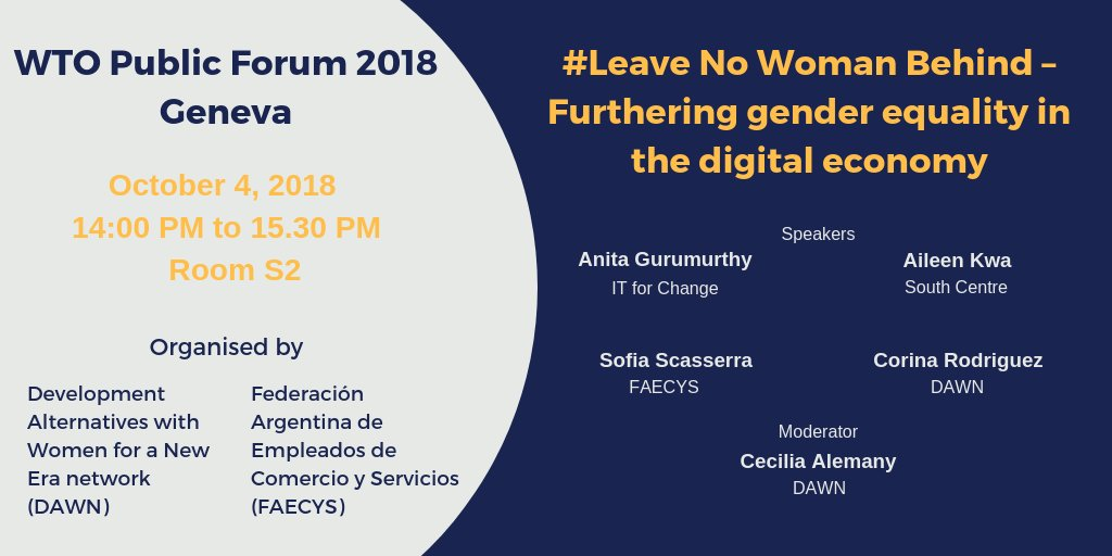 #Leave No Woman Behind – Furthering gender equality in the digital economy