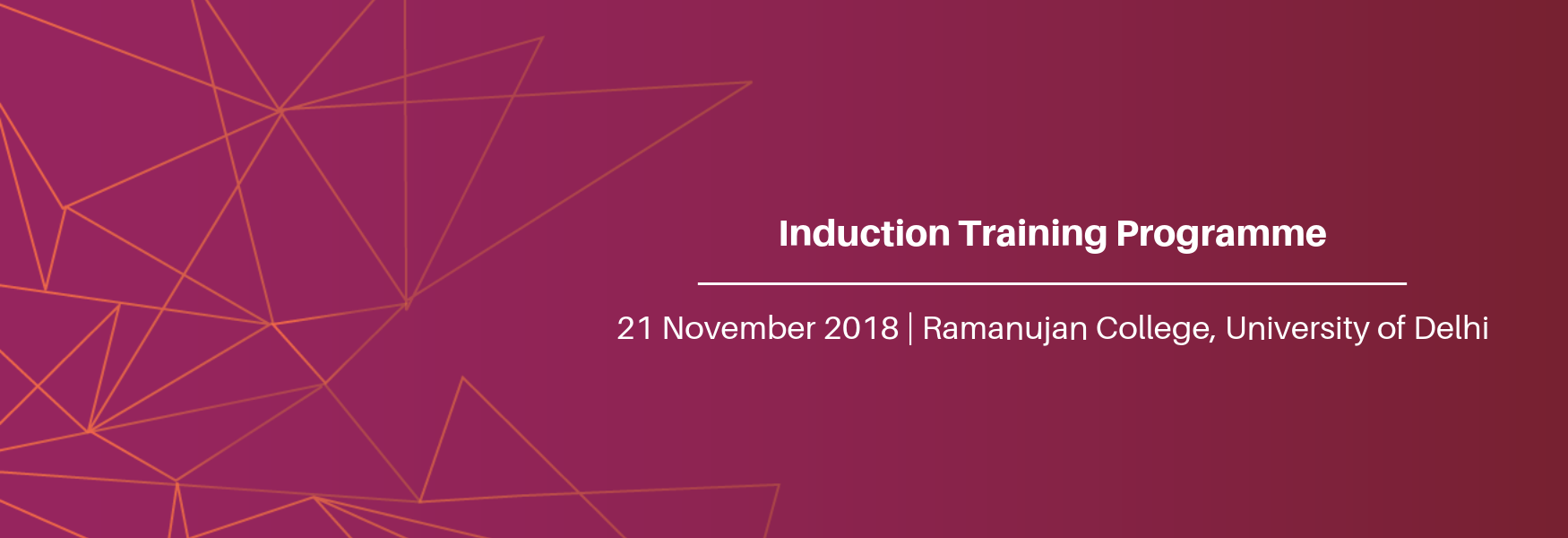 Induction Training Programme