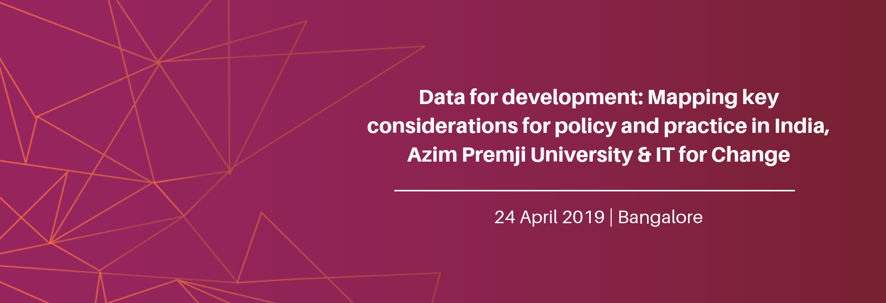 Data for development banner