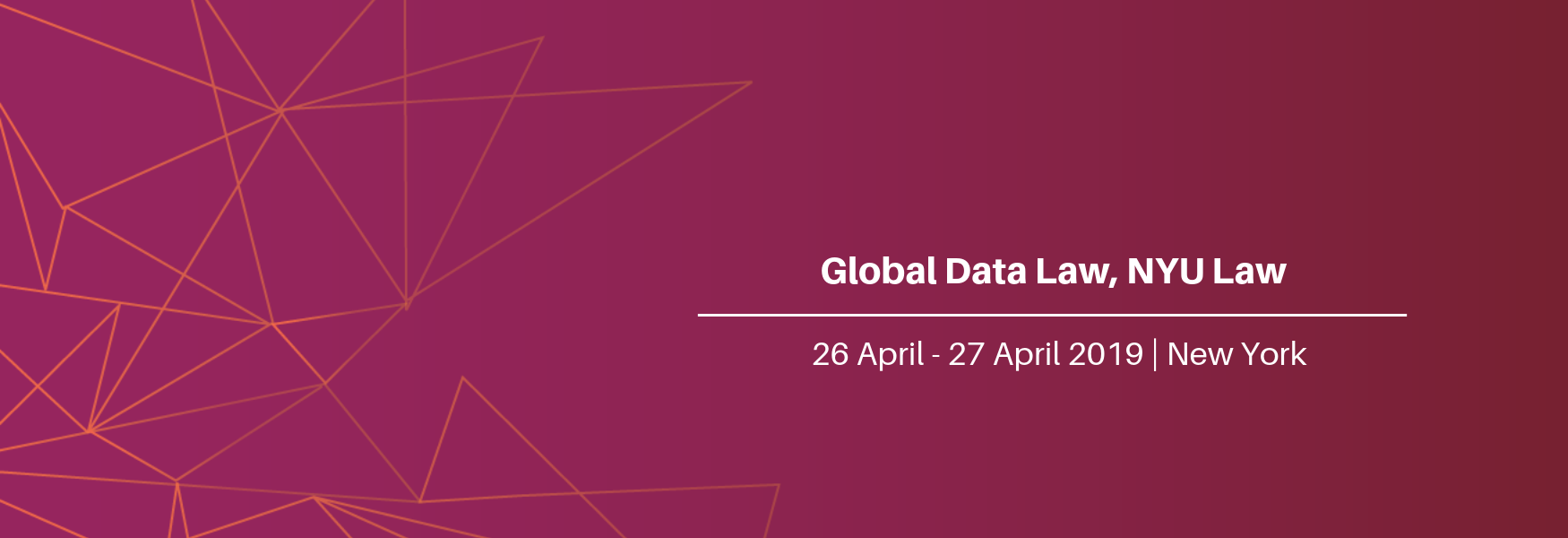 Global Data Law Conference, NYU Law