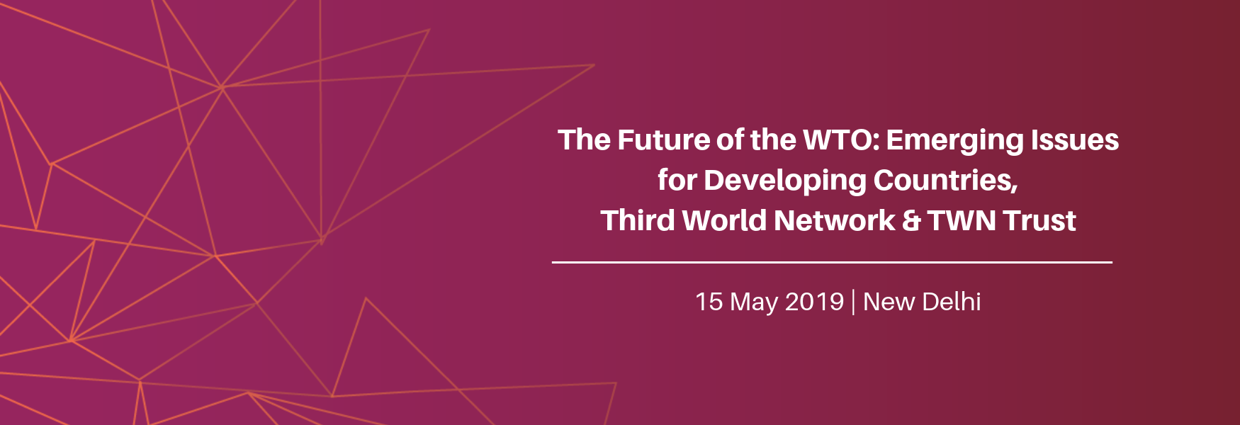 The Future of the WTO: Emerging Issues for Developing Countries 2019