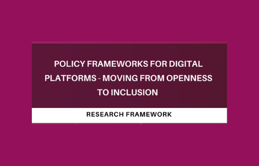 Policy frameworks for digital platforms