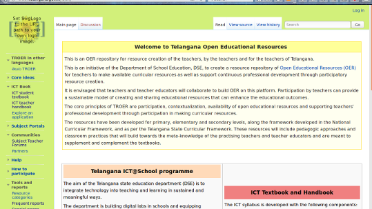 Telangana Repository of Open Educational Resources (TROER)